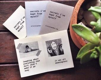 Riso Printed Zine - 'Secrets I've Kept From Myself'
