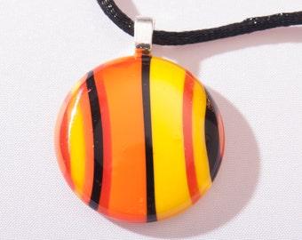 "Phoenix Fire Glass 1"" Pendant"