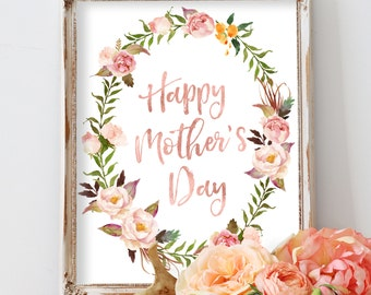 Mother's Day Printable Art Happy Mothers Day Gift Mums Gift Mothers Day Print Digital Print Wall Art PrintableGifts For Mom Mothers Day Art
