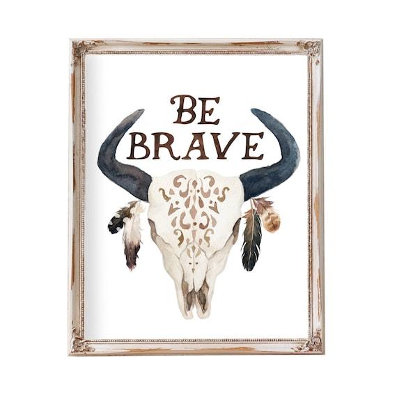 Boy Tribal Nursery Art Theme,  Western Theme Kids Art, Cow Skull Art,  Western Nursery Art, Cow Skull Prints, Skull With Feathers,