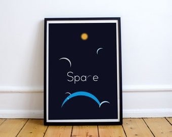 Minimalist movie poster - Space, Planet & Star