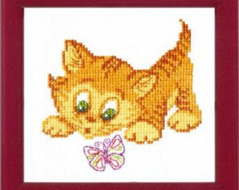 Cross Stitch Kit Familiarity with butterfly