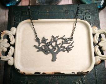 SALE! Tree of Life necklace // tree necklace // gunmetal necklace // branch necklace // tree branch necklace // gothic necklace
