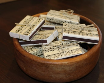Sheet Music Matchboxes