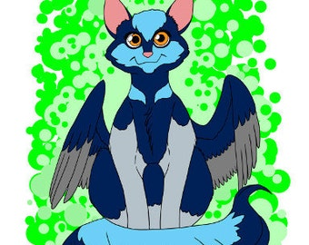 Cat Bird - Superb Fairy Wren, 300dpi