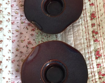 Vintage Ceramic Candle Holders, Made in France