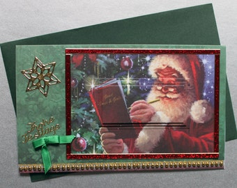 Christmas card Christmas greeting card Santa Claus