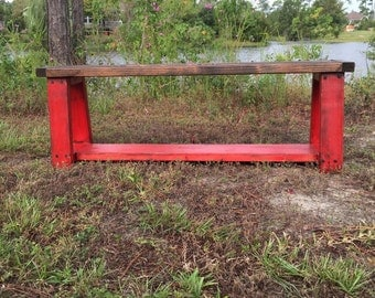 The Rustic Farmhouse Bench