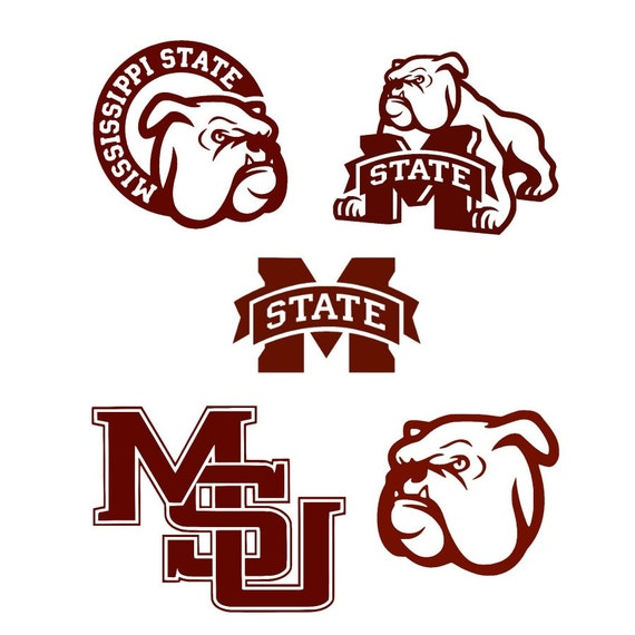 mississippi state bulldogs SVG files for Silhouette and Cricut, msu ...