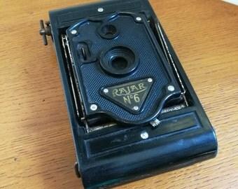 Vintage Rajar No 6 Fold Down Concertina Camera Retro Photography Collectable Prop