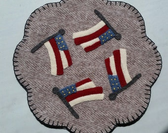 Patriotic Flag Wool Table Mat