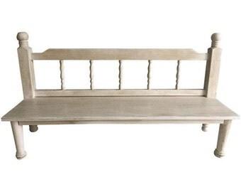 Distressed Toddler Bench Seat