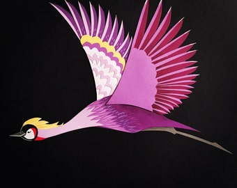 Limited Edition: Flying Crane Print