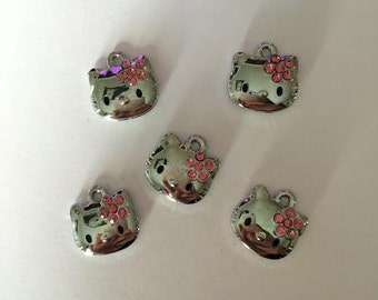 Hello Kitty charms // Silver Hello Kitty charms