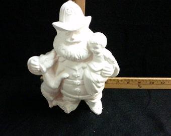 Ceramic Fireman Santa Claus