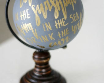 Extra Mini Hand Painted Floral Globe
