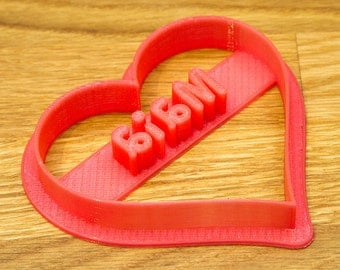 Personalised Heart Shaped Cookie Cutter