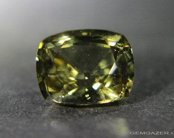 Kornerupine, yellowish-green, faceted, Sri Lanka.  5.56 carats.