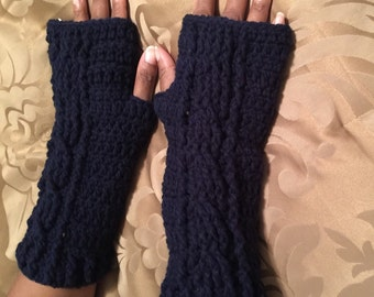 Crochet fingerless gloves !