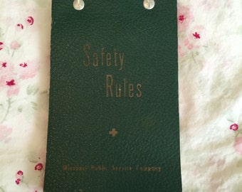 Vintage Missour Public Service Company Safety Rules Book & Company Letter
