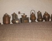 Brass and copper antique Japanese miniatures