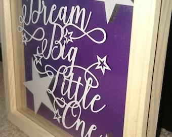 Dream Big Little One Papercut, design by Paperpanda