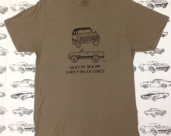 Chevy Truck K5 Blazer Shirt- Sexual Humor Chevy Truck Shirt- Mens Chevy Truck Gift- Chevy Truck Gift- Funny Gift- Size Medium