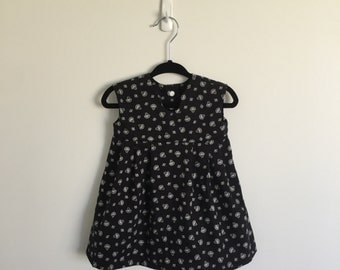 Black Floral Cotton Dress