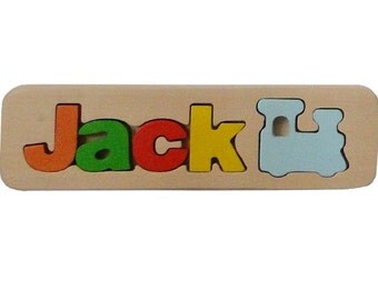 WOODEN PUZZLE NAME - Jack