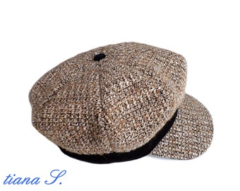 Boucle hat, beige-gold, size M