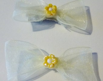 organza small bows