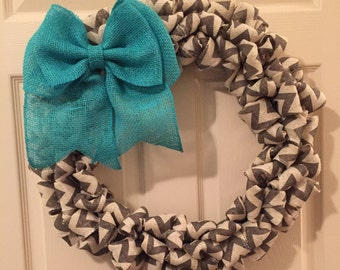 Burlap wreath, wreath, chevron, yearlong wreath, everyday wreath, front door wreath, home decor, gifts