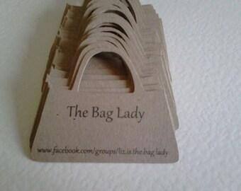 20 Handbag shaped gift tags/price tags.