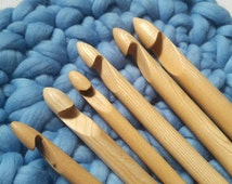 SUPER PRICE Set of 3 crochet hooks 15mm 20mm 25mm diametr, Giant Knitting, extreme crochet hook, Wooden Crochet Hooks,