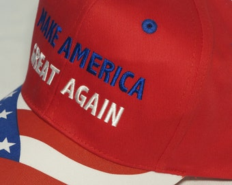 Make America Great Etsy - Deplorable trump supporters hats with us map of red states