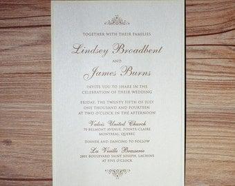 Classic Invitation, Classic Wedding Invitation, Classic Invitations, Classic Wedding Invitations, Simple Wedding Invitation, Simple Invites