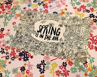 "Postcard ""Spring is in the air"""