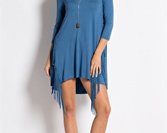 SIDE FRINGE DRESS