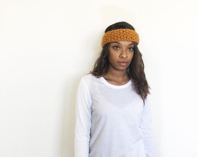 Boho Knit Headband //THE ANNA// Butterscotch