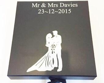 Personalised Wedding Keepsake Box Memory