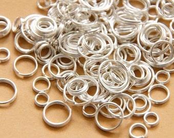 100 split rings 4 mm - 10 mm / MIX