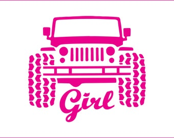 Jeep girl digital download, unique, svg, dxf, eps, ai, png, instant download, cute, 4x4, jeep, off roading, rock crawling, country