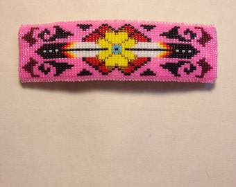 Native American beaded barrette.