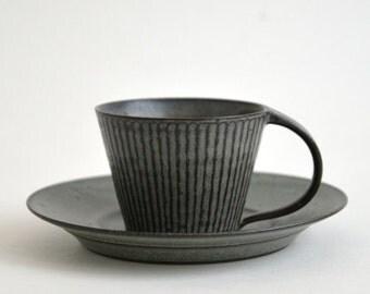 Shinogi Demitasse Cup (Blue Black), Koji Kitaoka (15005703-SBG)