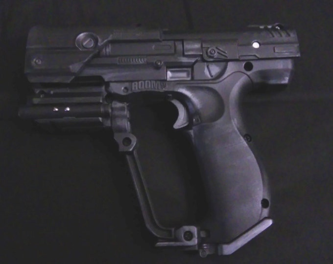 Halo series M6 50. caliber SOCOM black ops pistol with laser sight and flashlight.