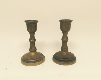 Vintage Brass Candle Sticks