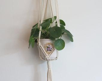 "Macrame plant hanger ""No. 9"" | Pothanger/Modern handmade macramé/Boho plant hanger"