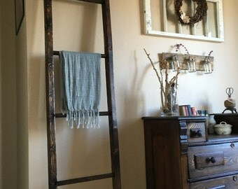 Blanket Ladder, Wooden ladder, Decorative Ladder