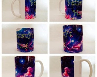 personalised mug cup mermaid magical siren mythological creatures present gift
