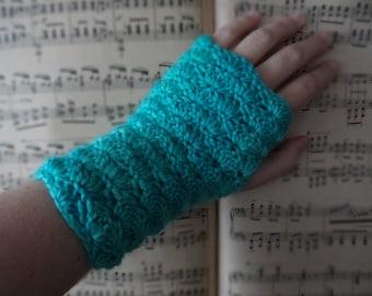 Hand knitted fingerless gloves, handwarmers, mittens